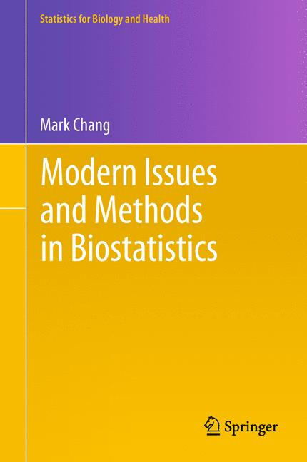 Cover of 'Modern Issues and Methods in Biostatistics'
