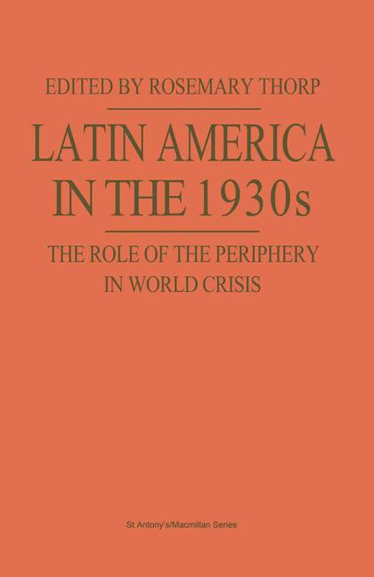 Cover of 'Latin America in the 1930s'