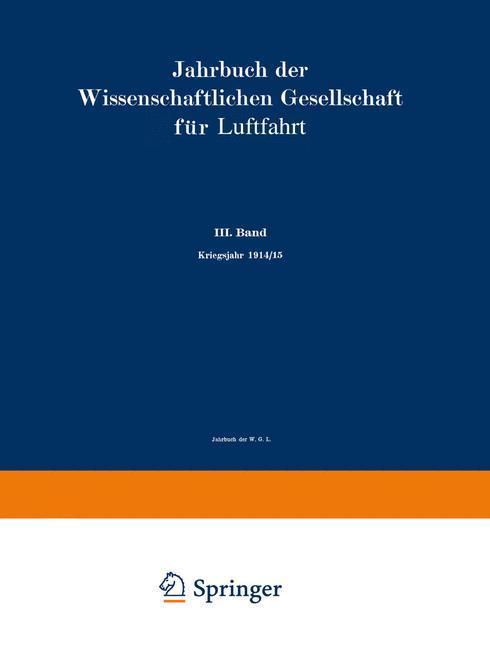 Cover of 'Jahrbuch der Wissenschaftlichen Gesellschaft für Luftfahrt'