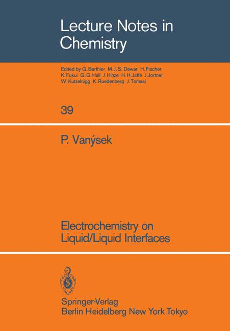 Cover of 'Electrochemistry on Liquid/Liquid Interfaces'