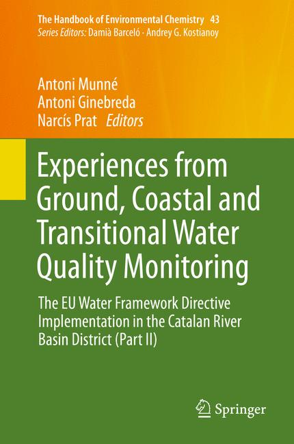 Cover of 'Experiences from Ground, Coastal and Transitional Water Quality Monitoring'