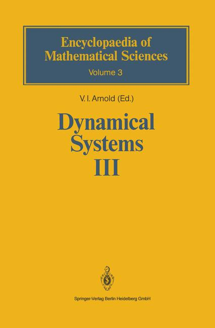 Cover of 'Dynamical Systems III'