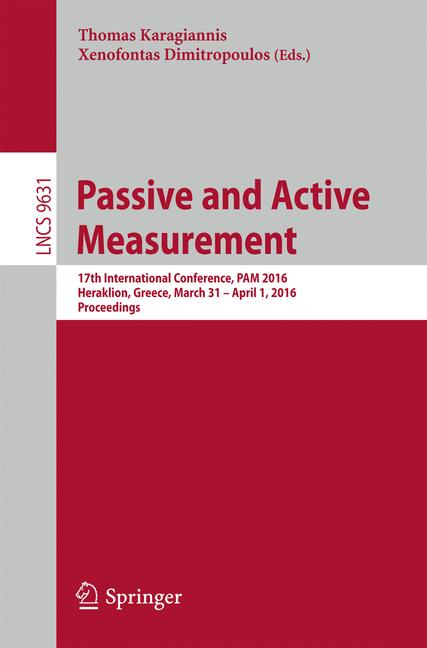 Cover of 'Passive and Active Measurement'