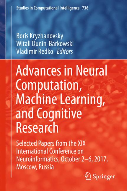 Cover of 'Advances in Neural Computation, Machine Learning, and Cognitive Research'