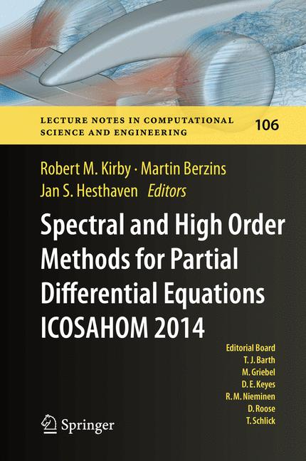 Cover of 'Spectral and High Order Methods for Partial Differential Equations ICOSAHOM 2014'