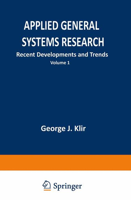 Cover of 'Applied General Systems Research : Recent Developments and Trends'