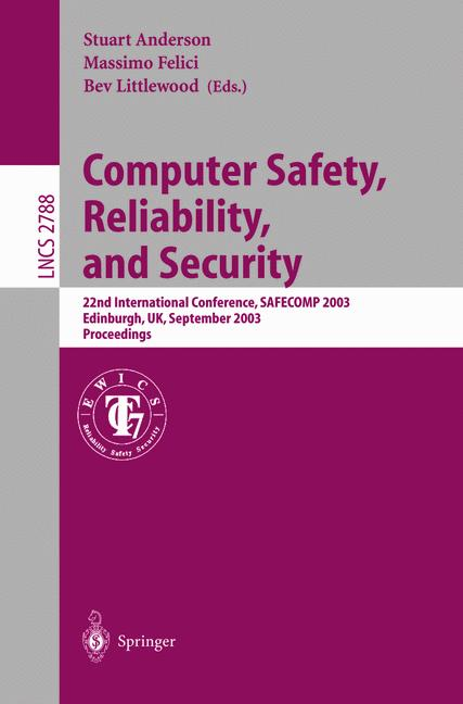 Cover of 'Computer Safety, Reliability, and Security'