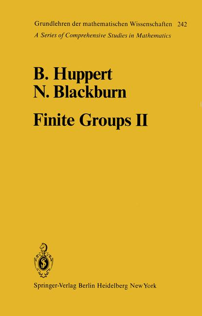 Cover of 'Finite Groups II'