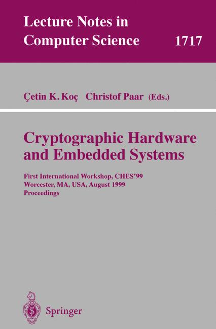 Cover of 'Cryptographic Hardware and Embedded Systems'
