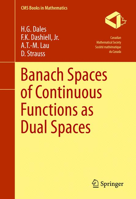 Cover of 'Banach Spaces of Continuous Functions as Dual Spaces'
