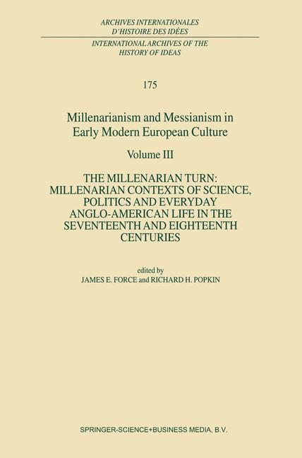 Cover of 'Millenarianism and Messianism in Early Modern European Culture'