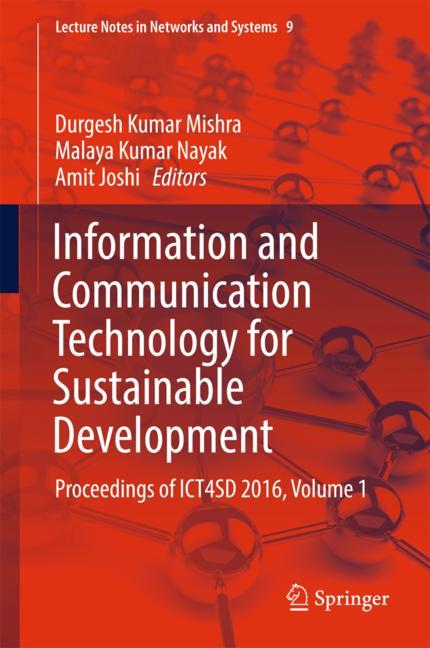 Cover of 'Information and Communication Technology for Sustainable Development'