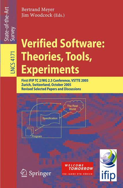 Cover of 'Verified Software: Theories, Tools, Experiments'