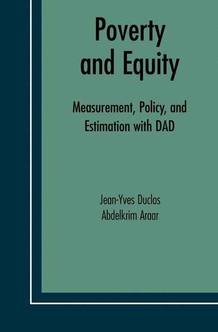 Cover of 'Poverty and Equity'