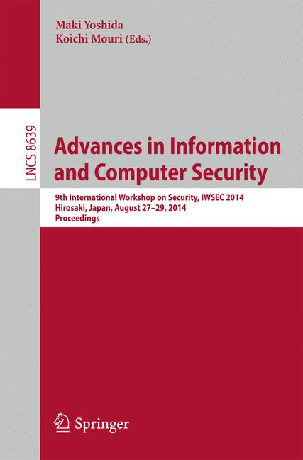 Cover of 'Advances in Information and Computer Security'