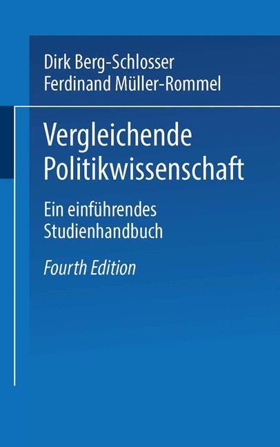 Cover of 'Vergleichende Politikwissenschaft'