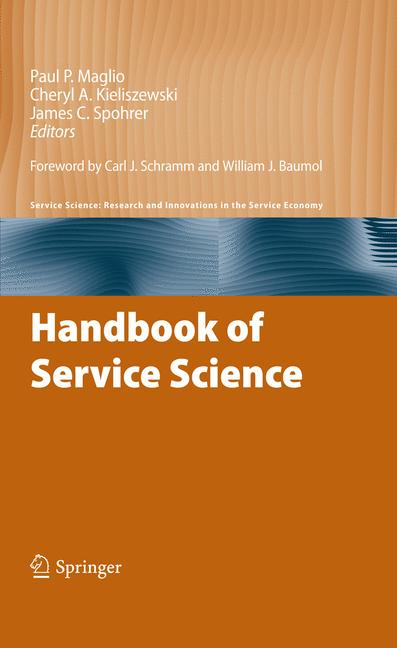 Cover of 'Handbook of Service Science'