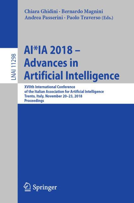 Cover of 'AI*IA 2018 – Advances in Artificial Intelligence'
