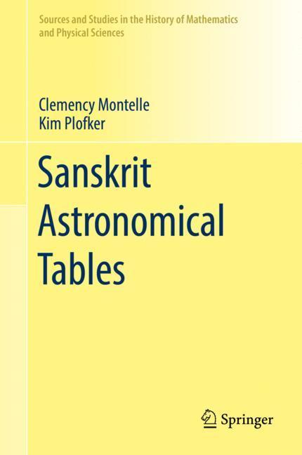 Cover of 'Sanskrit Astronomical Tables'