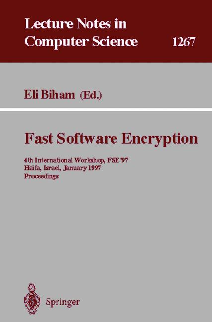 Cover of 'Fast Software Encryption'
