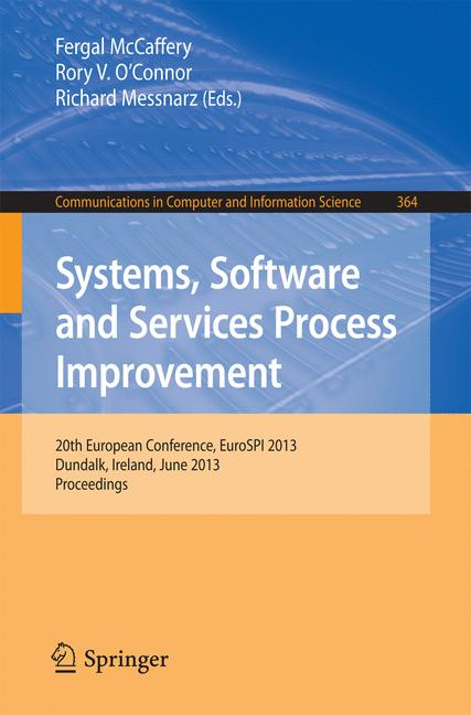 Cover of 'Systems, Software and Services Process Improvement'