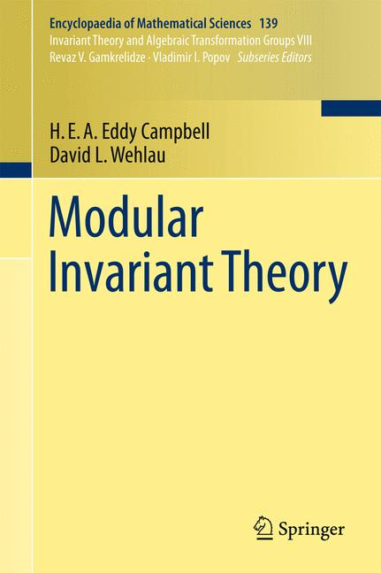 Cover of 'Modular Invariant Theory'