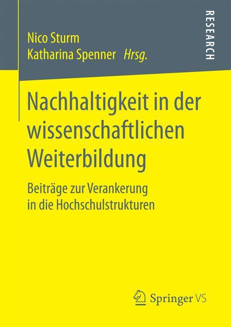Cover of 'Nachhaltigkeit in der wissenschaftlichen Weiterbildung'
