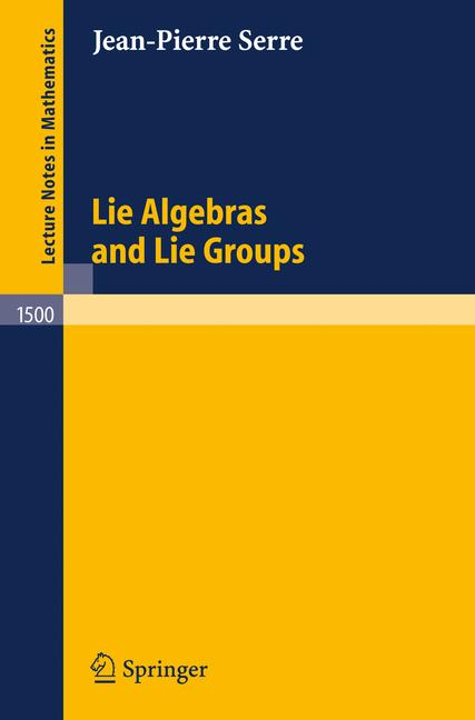 Cover of 'Lie algebras and Lie groups'