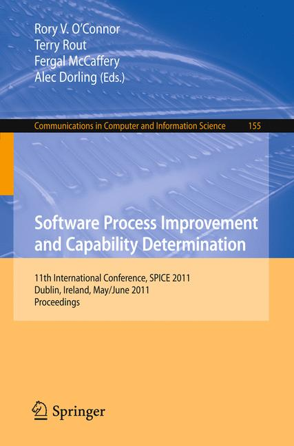 Cover of 'Software Process Improvement and Capability Determination'