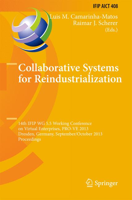 Cover of 'Collaborative Systems for Reindustrialization'