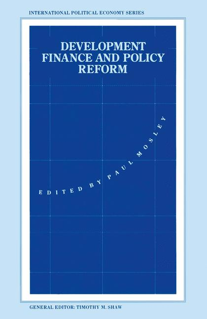 Cover of 'Development Finance and Policy Reform'