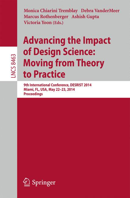 Cover of 'Advancing the Impact of Design Science: Moving from Theory to Practice'