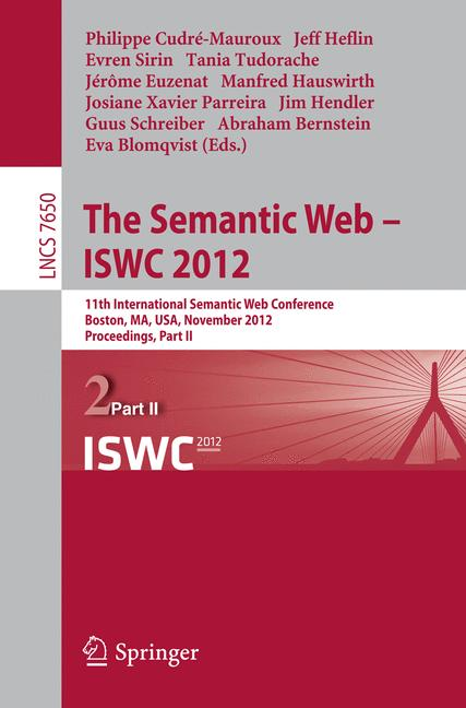 Cover of 'The Semantic Web – ISWC 2012'