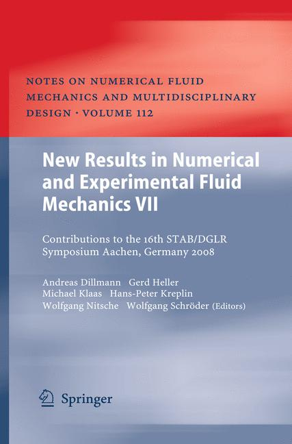 Cover of 'New Results in Numerical and Experimental Fluid Mechanics VII'