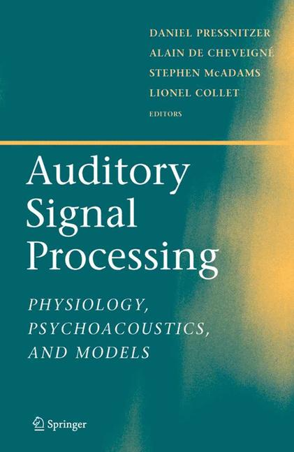 Cover of 'Auditory Signal Processing'
