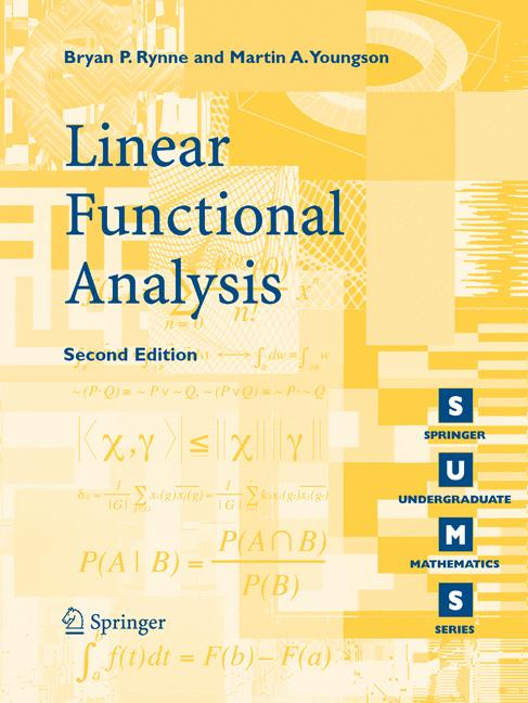 Cover of 'Linear functional analysis'
