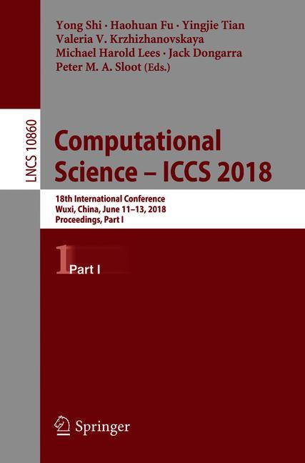 Cover of 'Computational Science – ICCS 2018'