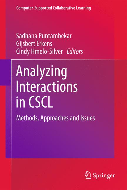 Cover of 'Analyzing Interactions in CSCL'