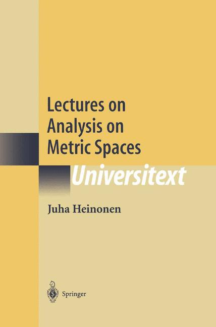 Cover of 'Lectures on Analysis on Metric Spaces'