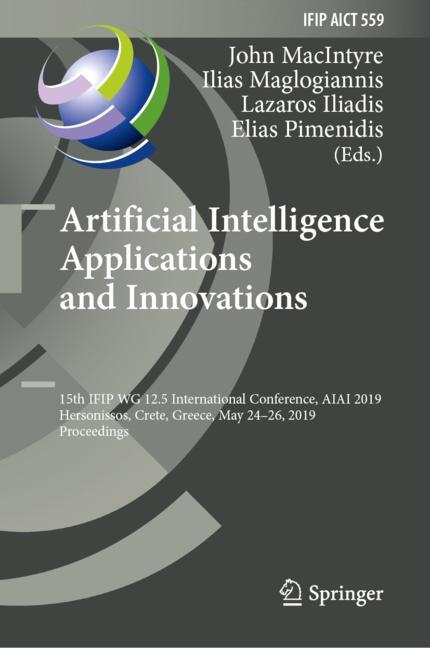Cover of 'Artificial Intelligence Applications and Innovations'