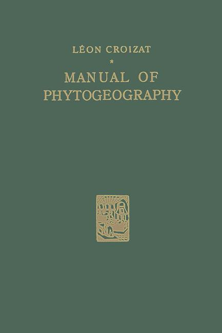 Cover of 'Manual of Phytogeography'