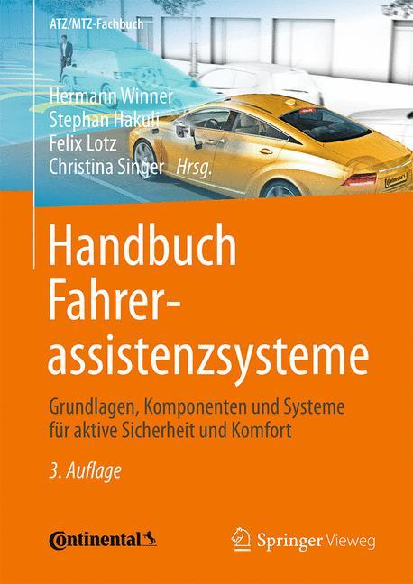Cover of 'Handbuch Fahrerassistenzsysteme'