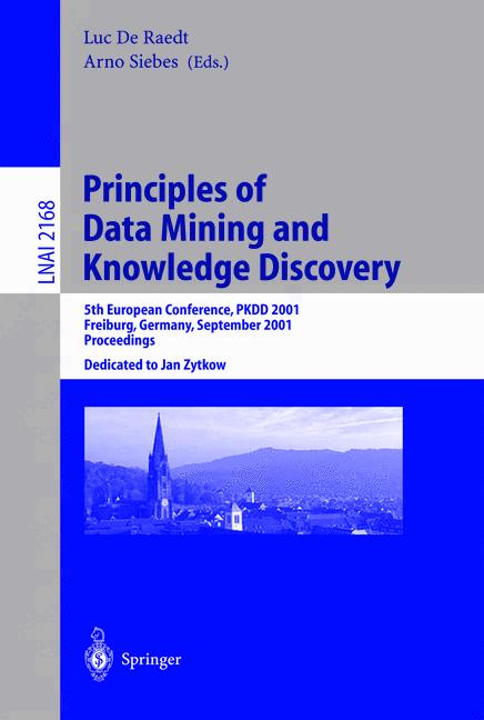 Cover of 'Principles of Data Mining and Knowledge Discovery'