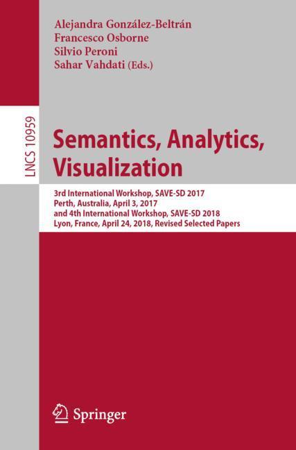Cover of 'Semantics, Analytics, Visualization'