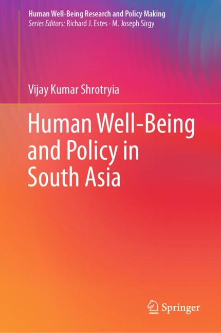 Cover of 'Human Well-Being and Policy in South Asia'