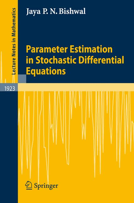 Cover of 'Parameter estimation in stochastic differential equations'