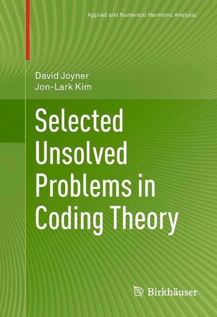 Cover of 'Selected Unsolved Problems in Coding Theory'
