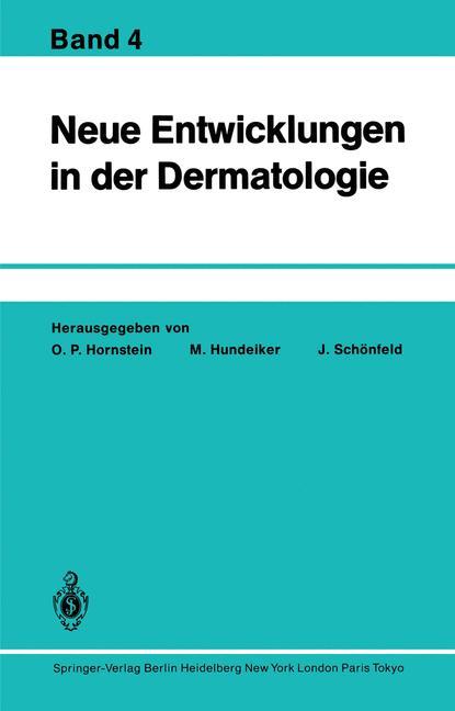 Cover of 'Neue Entwicklungen in der Dermatologie'