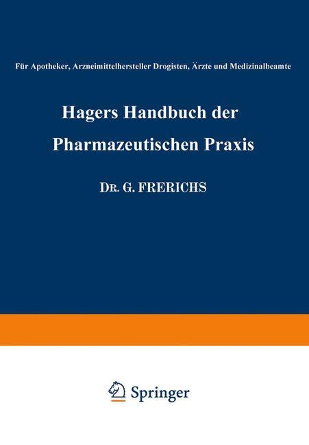 Cover of 'Hagers Handbuch der Pharmazeutischen Praxis'