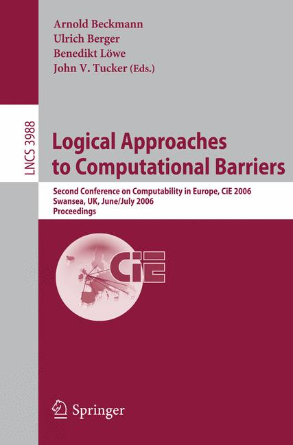 Cover of 'Logical Approaches to Computational Barriers'